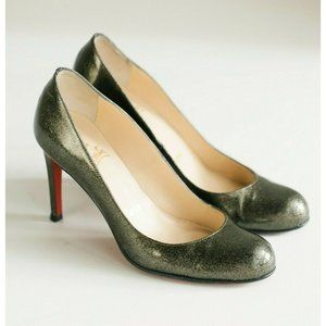 Christian Louboutin Speckled Olive Green Heels